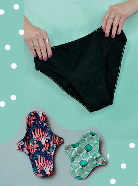 Menstruations Zéro Déchet: culotte de règles et serviettes hygiéniques lavables