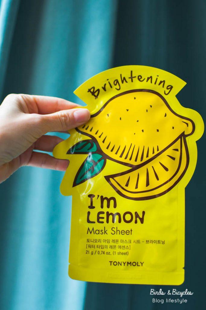 Test I'm Real Lemon de Tony Moly- mon avis sur des sheet masks coréens