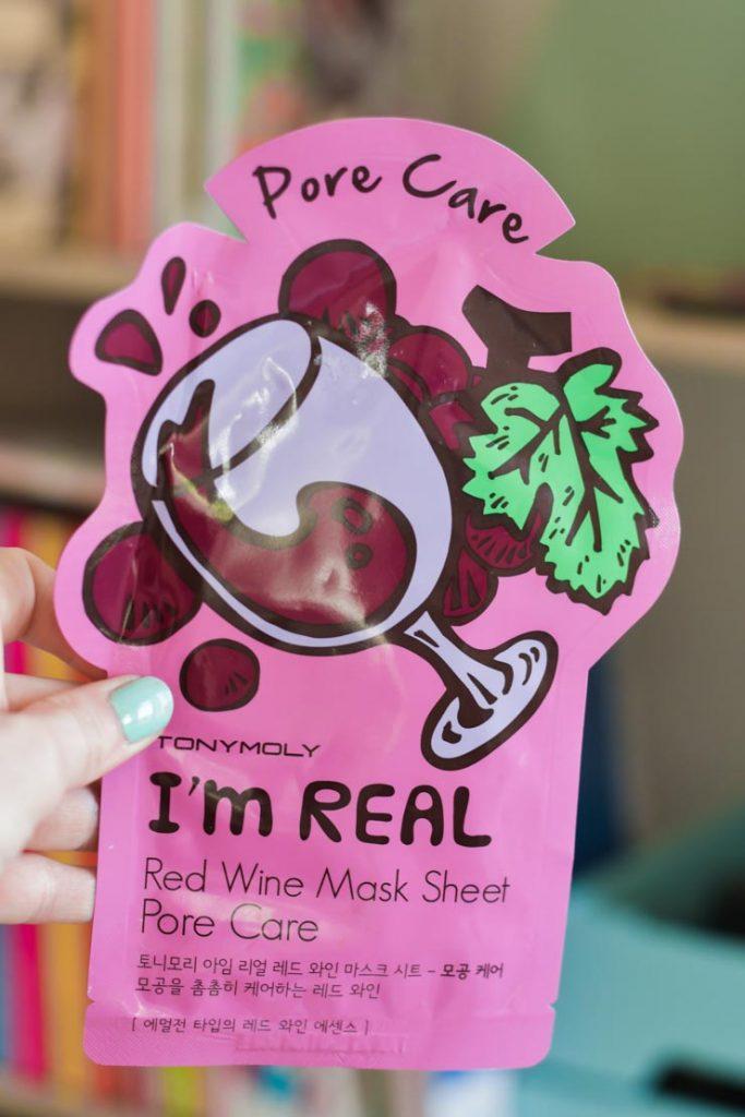 Masque au vin rouge I'm Real