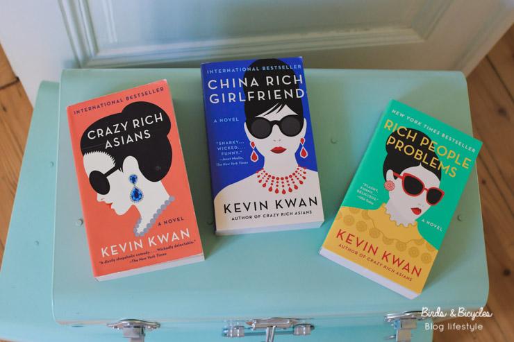 Trilogie de romans Crazy Rich Asians de Kevin Kwan: mon avis sur le blog littéraire Birds & Bicycles