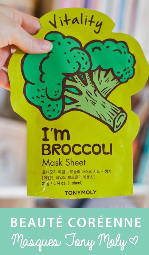 Mon avis sur les masques coréens de la gamme I'm Real de TonyMoly. J'ai testé les sheet masks aux algues, brocoli, citron, tomate et... au vin rouge!