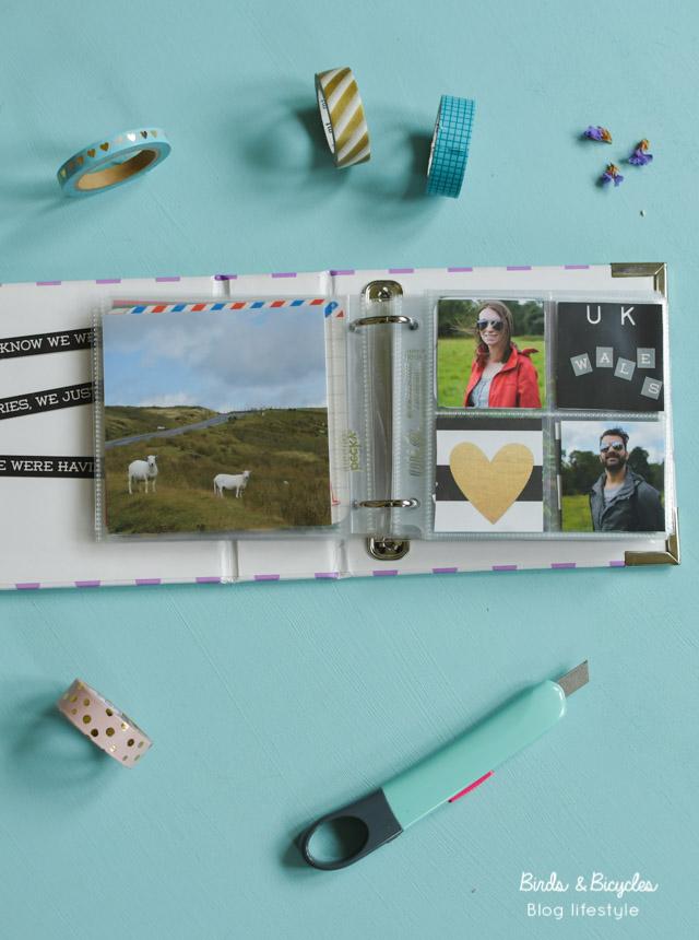 Je scrapbooke sur le blog lifestyle Birds & Bicycles (mini albums photo Project life)