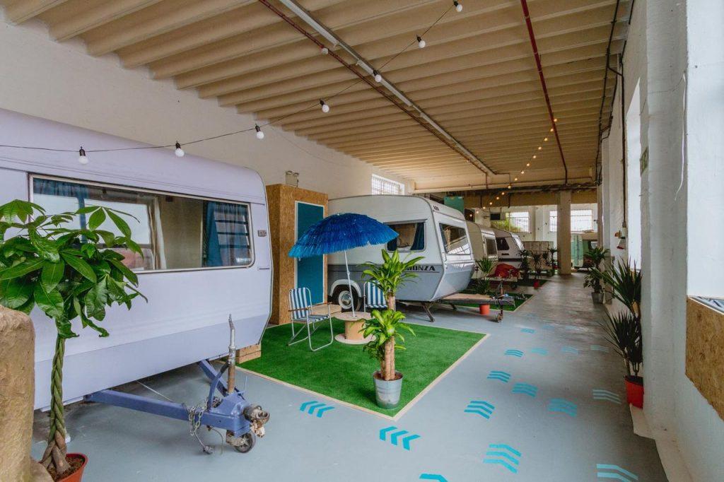 Caravanes indoor à Bristol - expérience insolite et vintage