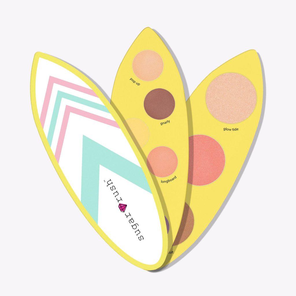 Jolies palettes de l'été chez des marques américaines et coréennes: la planche de surf de Tarte Cosmetics