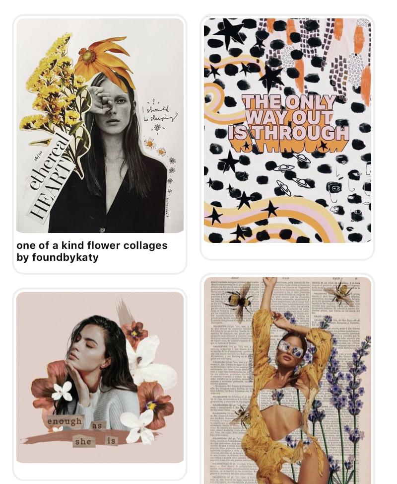 Inspiration: des collages fleuris et féminins