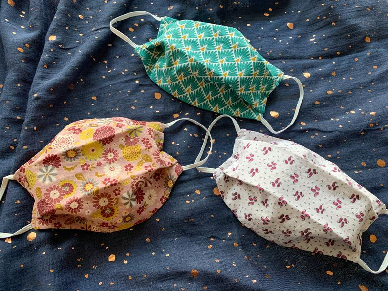 Joli masque en tissu à motifs: ma sélection sur Etsy