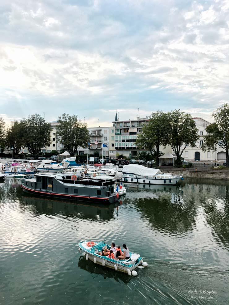 Naviguer sur le canal à Mulhouse - petits bonheurs du blog lifestyle alsace Birds & Bicycles