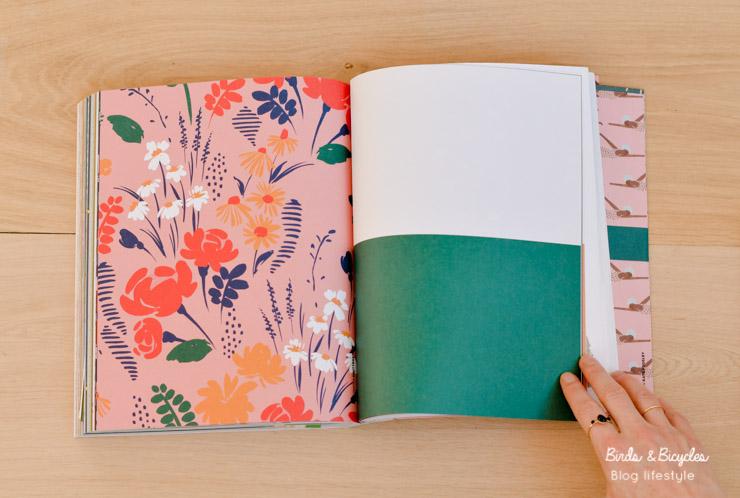 Papiers à fleurs ♡ Illustration du Book for paper lovers de Flow !