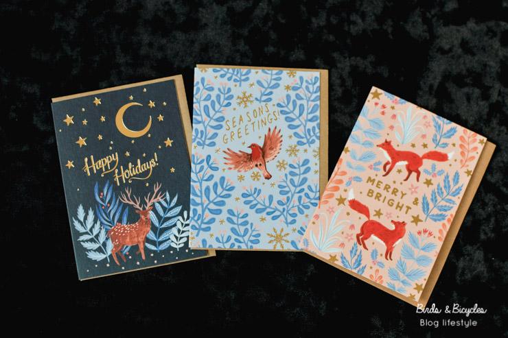 Cartes de Noël renard et animaux des bois par Papio Press