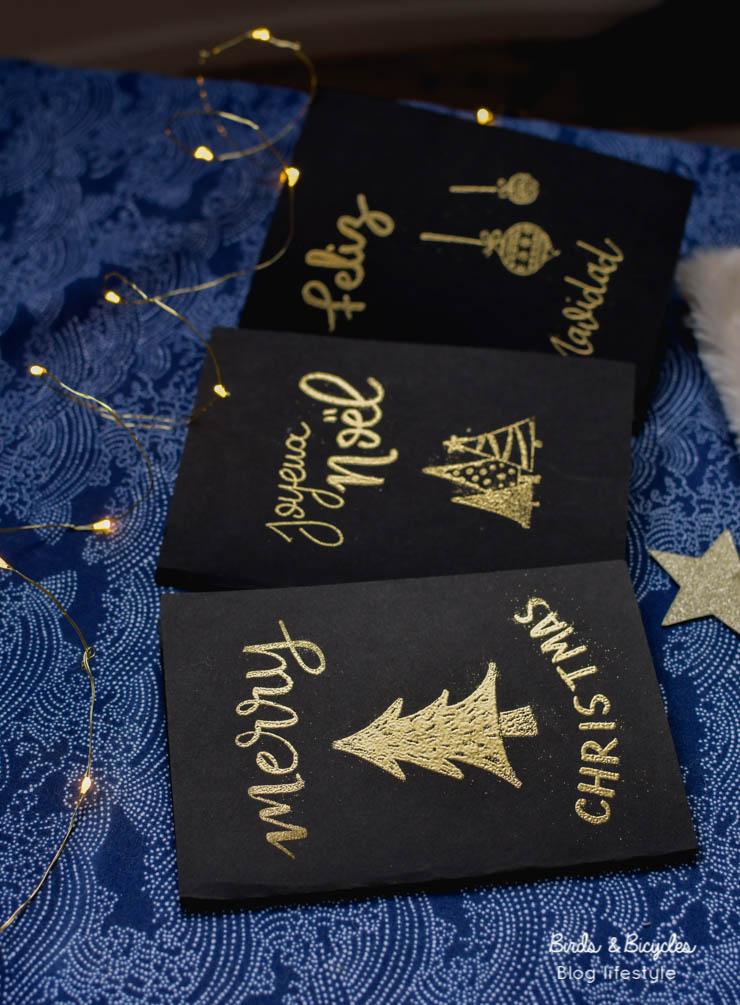 Idée DIY  - Cartes de Noël sur le blog