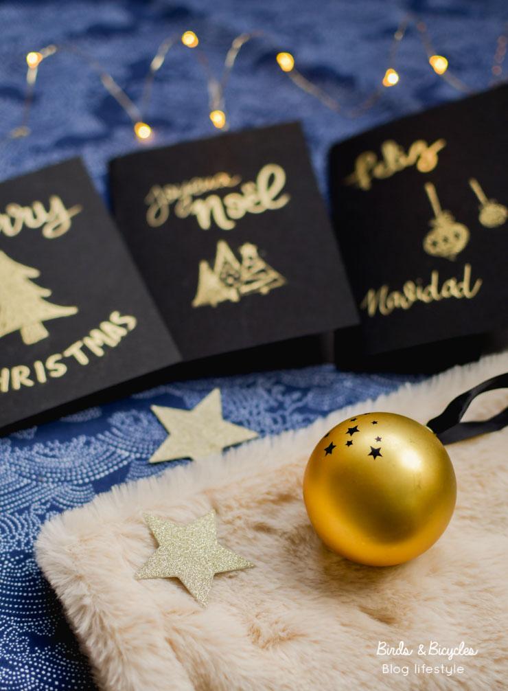 DIY sur le blog: cartes de Noël magiques grâce à la technique de l'embossage