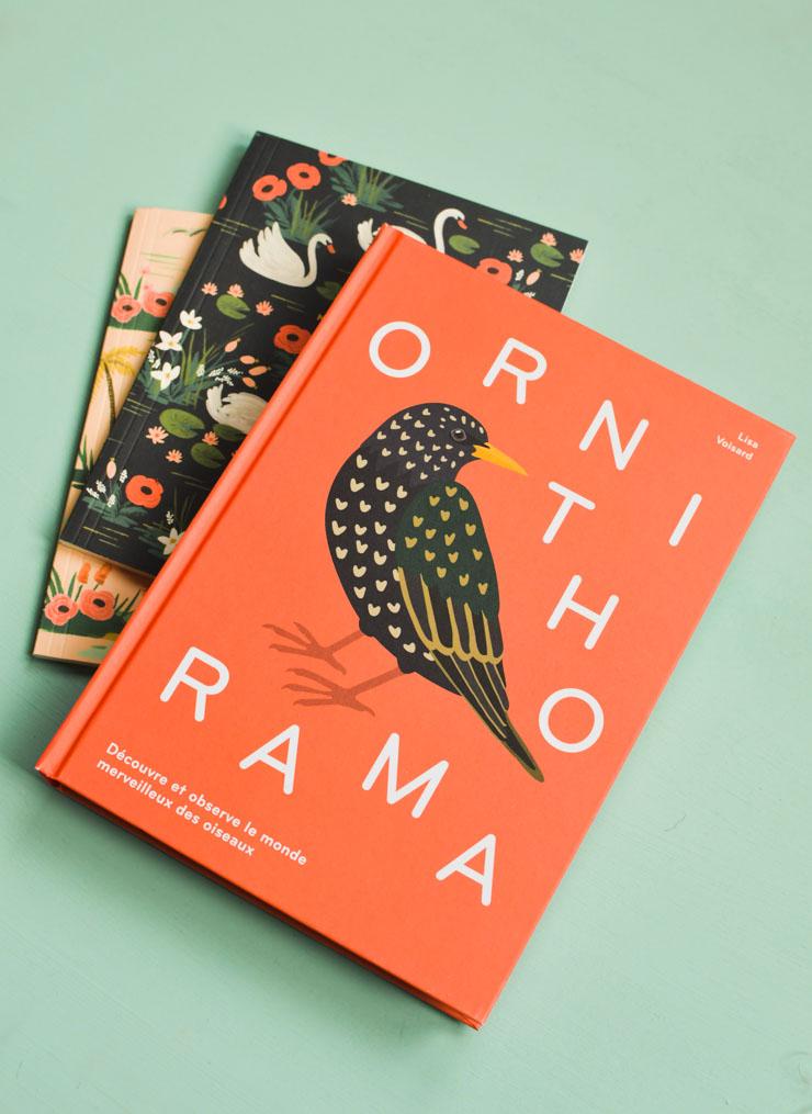 Ornithorama - un livre sur les oiseaux avec des illustrations léchées - aux éditions suisses Helvetiq