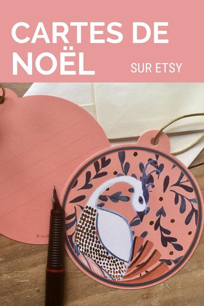 Cartes de Noël d'illustrateurs français sur Etsy