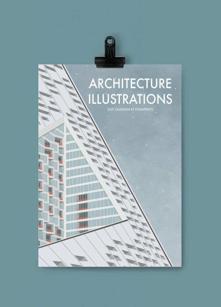 Beaux calendriers 2021 - illustration & architecture