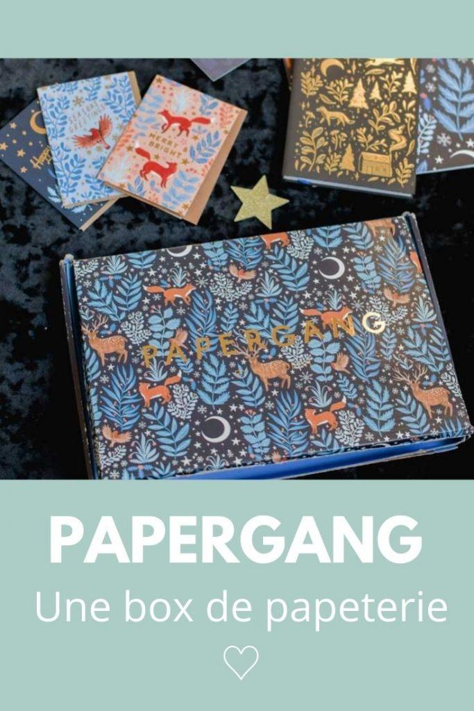 BOX de PAPETERIE: découverte de Papergang
