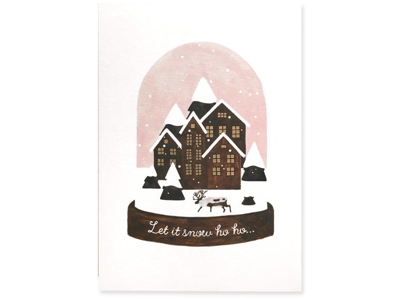 Jolies cartes de Noël d'illustrateurs français sur Etsy