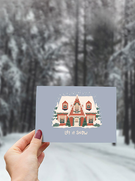 Jolies cartes de Noël 2020 sur Etsy