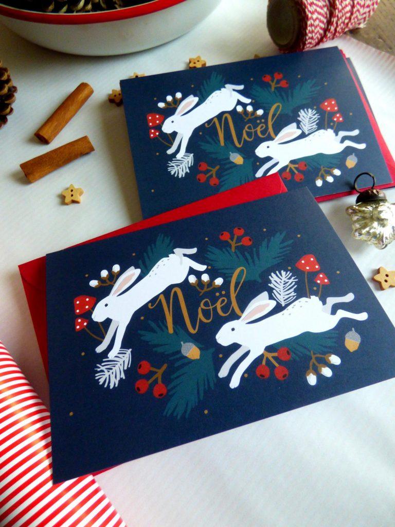 Jolies cartes de Noël d'illustrateurs: ma sélection 2020 sur le blog
