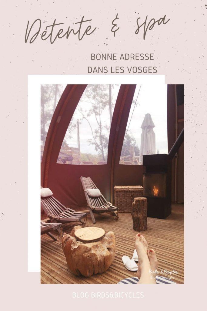 Spa en Alsace - Qui n'a pas envie de buller dans un spa au milieu de la forêt, dans les Vosges? Une bonne adresse en Alsace, autour de Mulhouse, et un coup de coeur de mon automne.