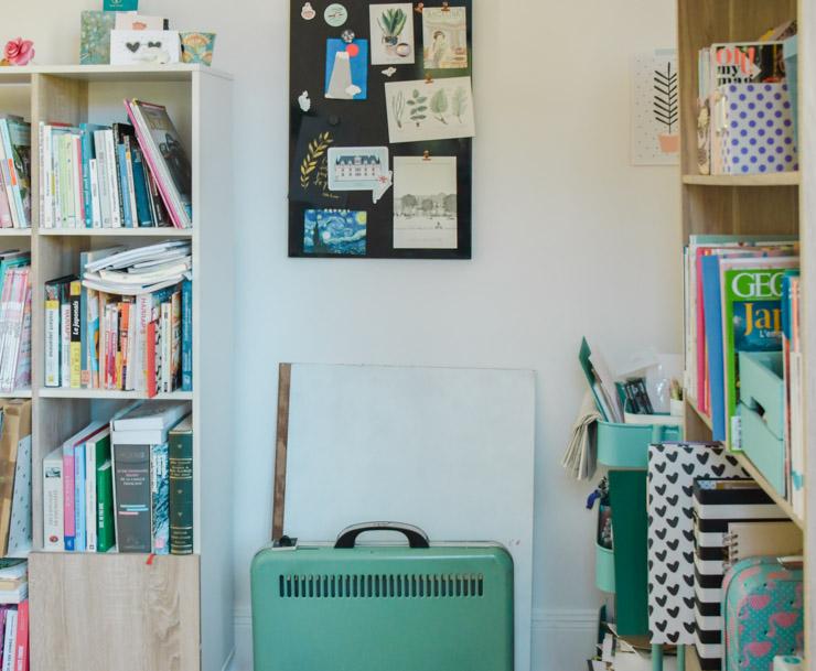 Mon bureau! C'est là où je blogue