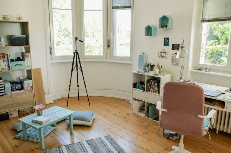 Mon bureau! C'est là où je blogue - Tour déco de mon appart avant mon déménagement