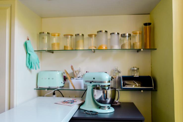 Kitchenaid et mur de bocaux