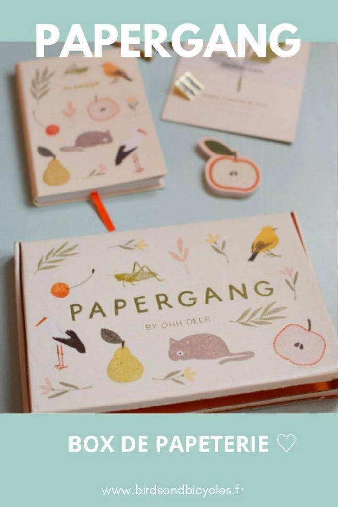 Ce mois, la box Papergang a misé sur un design tout en douceur et en régression avec l'illustratrice little PIEP