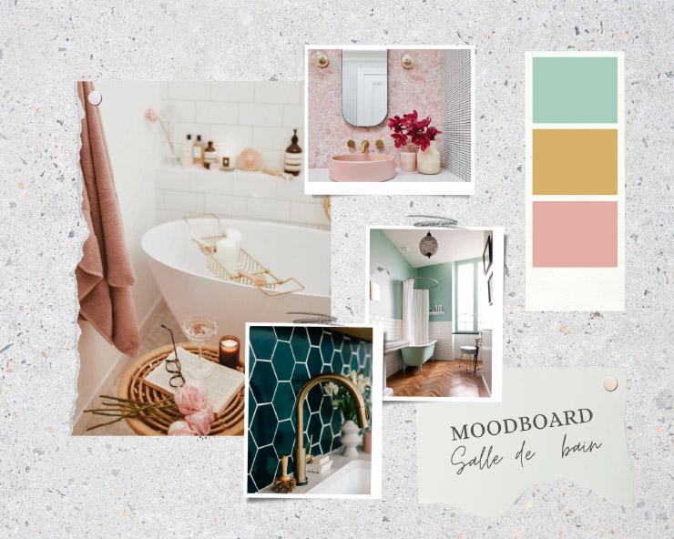 Moodboard déco salle de bain sur le blog