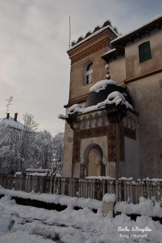 La maison mauresque sous la neige - Rebberg de Mulhouse