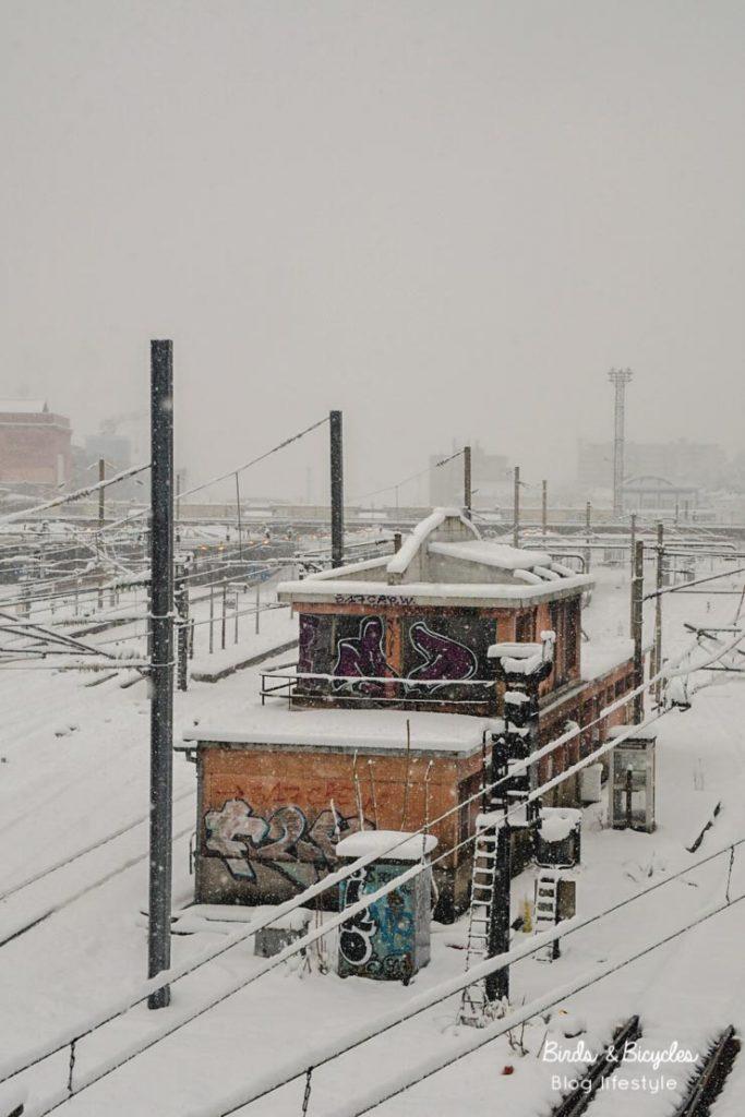 Gare de Mulhouse sous les flocons