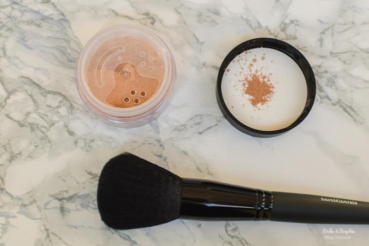 Avis poudre Original Lose Powder - revue Bare Minerals et pinceau teint