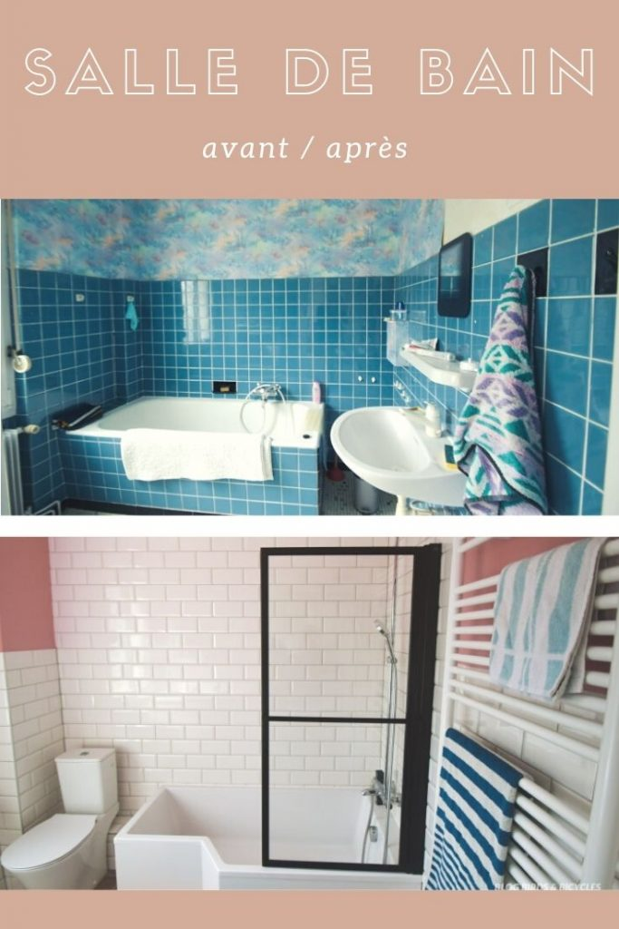 Avant - après! La salle de bain est terminée, mais pas encore sa déco! Je vous montrerai son évolution