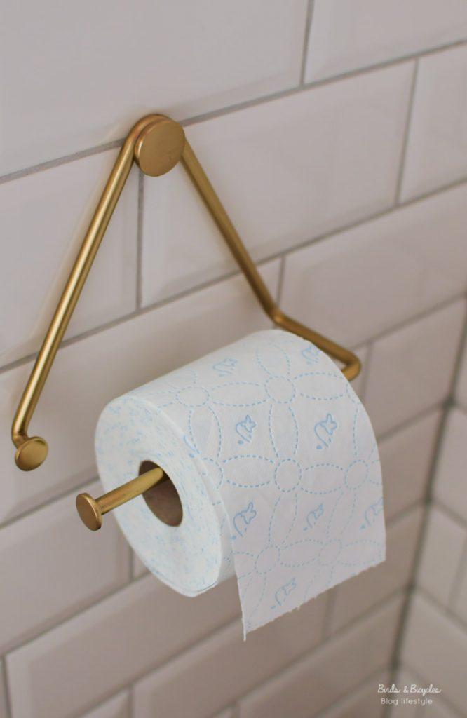 Dérouleur papier toilette en laiton