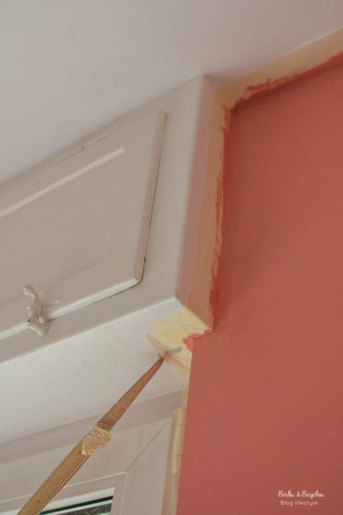 Peinture des murs en rose