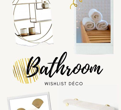 Wishlist déco de salle de bain: inspiration laiton