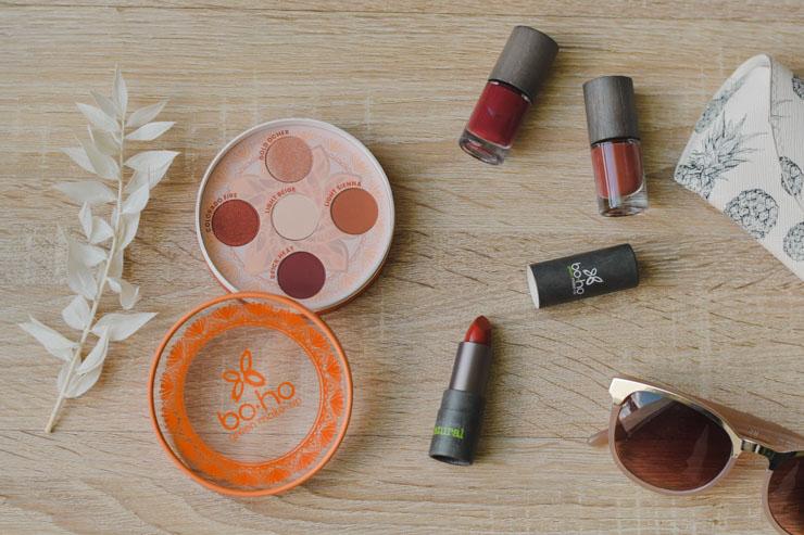 Blog beauté naturelle - Avis sur Valley of Fire, la collection estivale de Boho Green Make-up