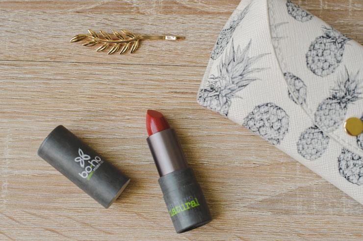 Mon avis sur le rouge à lèvres  111 BRICK RED  de la collection Valley of Fire de Boho Green makeup