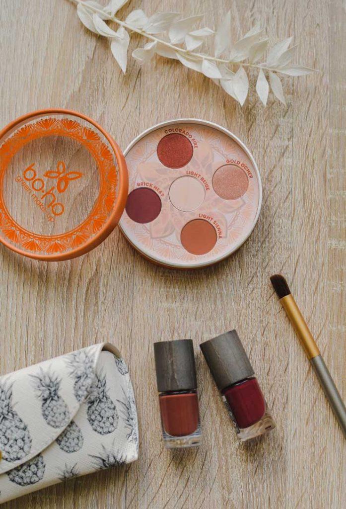 Avis surla collection Valley of Fire de Boho Green makeup et sa palette de fards