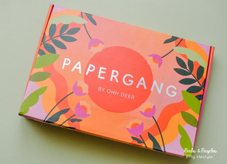 La box de papeterie Papergang de mai - unboxing sur le blog lifestyle fan de papeterie birds & bicycles