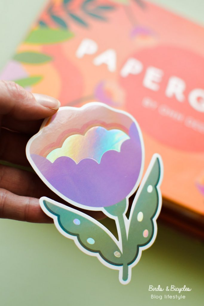 Sticker fleur holographique