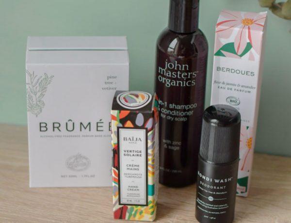 Revue de cosmétiques green sur le blog