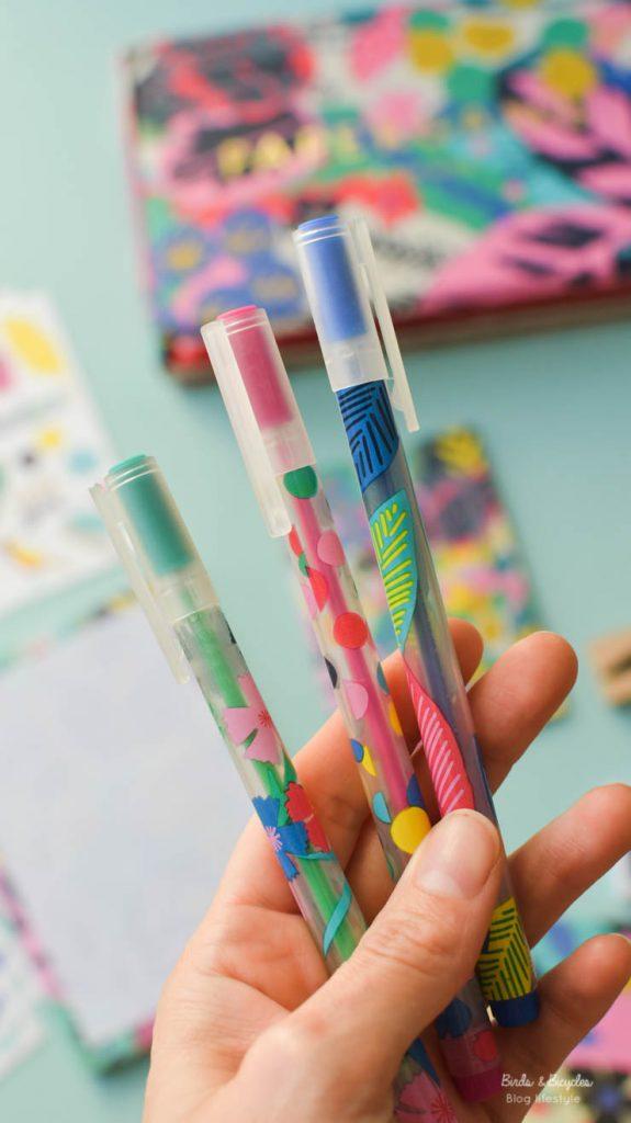 Des stylos gels colorés
