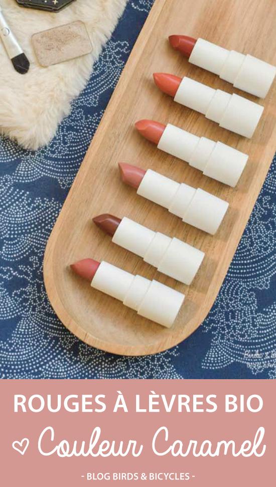 Revue de rouges à lèvres bio: mon avis sur ceux de Couleur Caramel (nouvelle gamme)