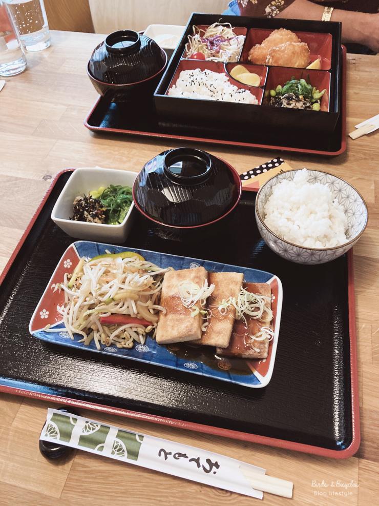 Menu japonais à Bâle