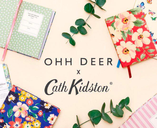 Collaboration Cath Kidston et Ohh Deer: papeterie, beaux agendas 2022, carnets floraux